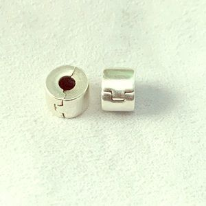 Authentic Pandora Polished Clips
